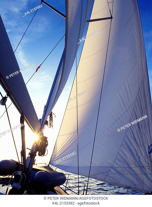 sailing boat, Greece, Cyclade Islands