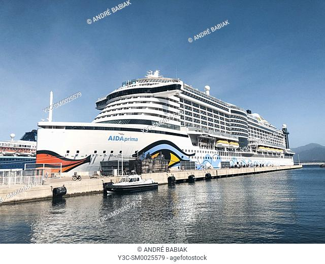 AIDA Prima cruise liner close up