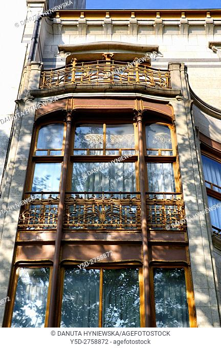 architectural detail - Art Nouveau Solvay Hotel by Victor Horta, together with three other town houses of Victor Horta, including Horta's own house and atelier