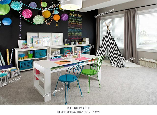 Interior of playroom in house