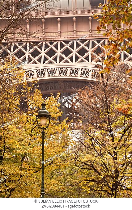Abstract of the Eiffel Tower in Paris, France
