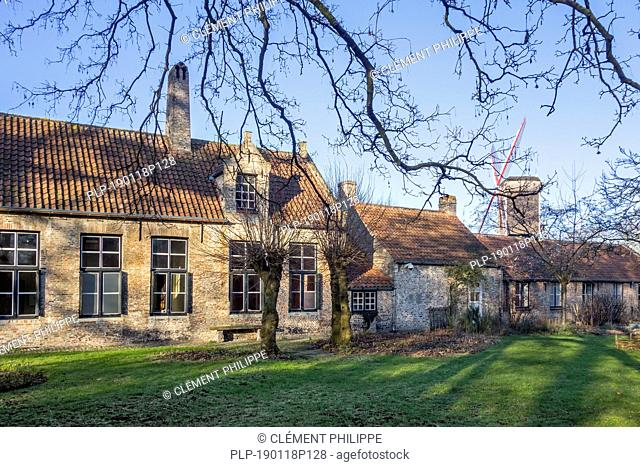 Gezellemuseum, 16th century house and birthplace of the Flemish poet Guido Gezelle in the city Bruges, West Flanders, Belgium