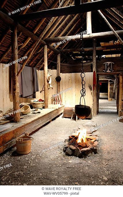 Inside of Norse buildings Newfoundland, Canada