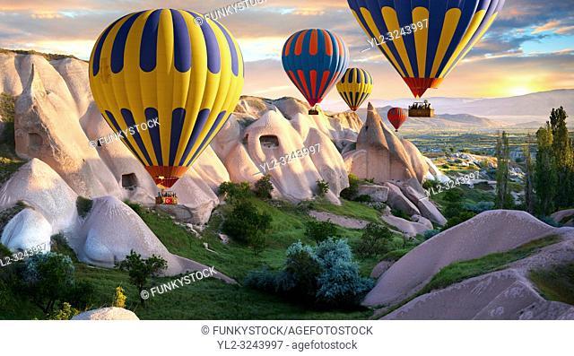Hot Air Baloons over Goreme, Cappadocia Turkey