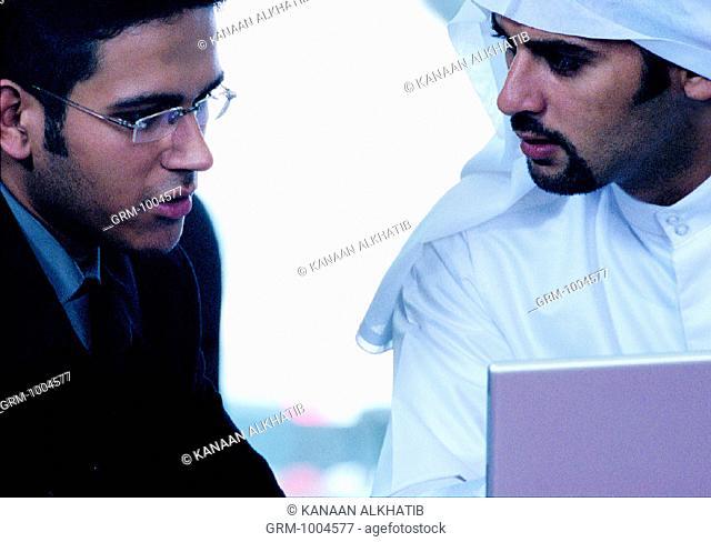 Arab businesspeople in a meeting