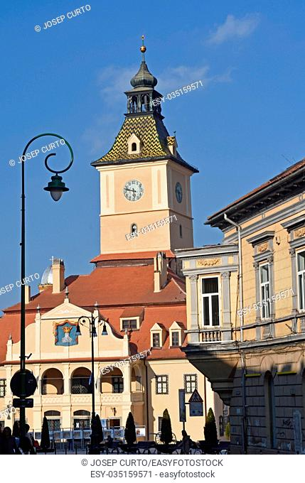 Former City Hall of Brasov, called Council House (Casa Sfatului) at Council Square,Transylvania, Romania