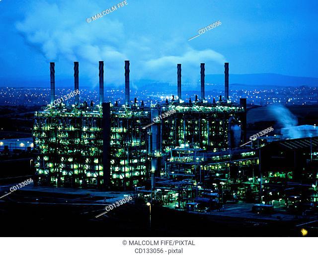Petrochemical complex. Mossmorran. Fife. Scotland