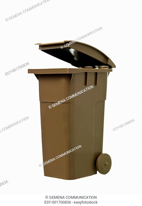 Brown Recycling Bin
