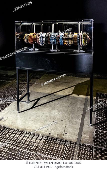 Installation 'Limbo Lottery' by Han Hoogerbrugge at the Riga Biennial 2018 in Riga, Latvia, Europe