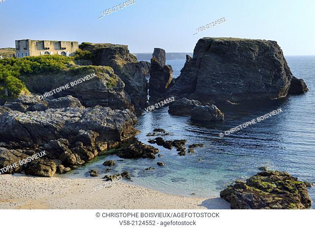 France, Morbihan, Belle Ile, Pointe des Poulains, Sarah Bernhardt fort