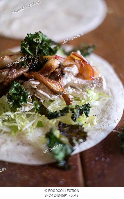 Wrap with chicken and kale