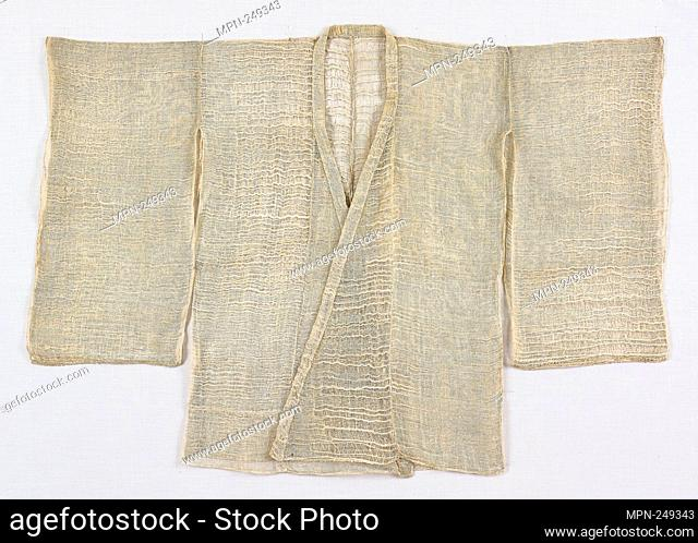 Mizugoromo - 18th century, Edo period (1615–1868) - Japan - Origin: Japan, Date: 1701–1800, Medium: Hemp, plain weave with areas of displaced wefts