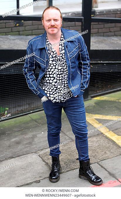 Keith Lemon outside ITV Studios Featuring: Keith Lemon, Leigh Francis Where: London, United Kingdom When: 04 Feb 2016 Credit: Rocky/WENN.com