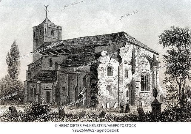 Waltham Abbey, Essex, England, UK, Europe, 19th century