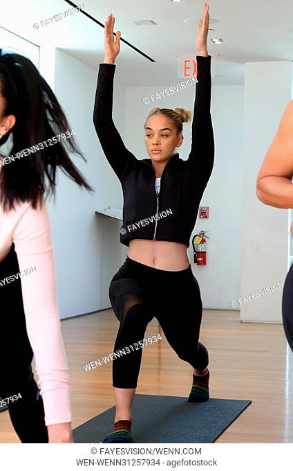Draya Michele & Friends at AloYoga Featuring: Jasmine Sanders Where: Beverly Hills, California, United States When: 01 Apr 2017 Credit: FayesVision/WENN