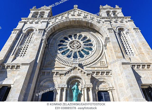 Sanctuary of Santa Luzia and the Sacred Heart of Jesus in Viana do Castelo city in Minho Province, Portugal