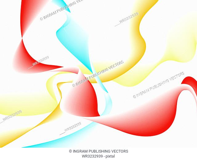 Abstract flowing background with ribbons of colours ideal as a desktop or presentation cover