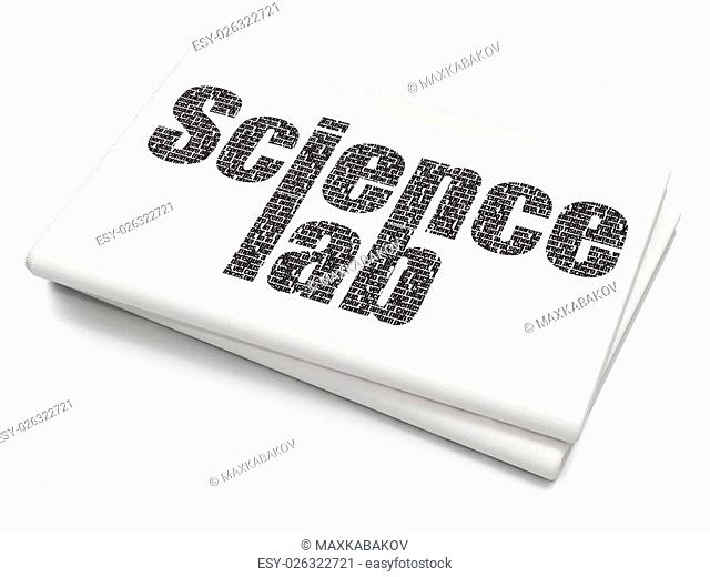 Science concept: Pixelated black text Science Lab on Blank Newspaper background