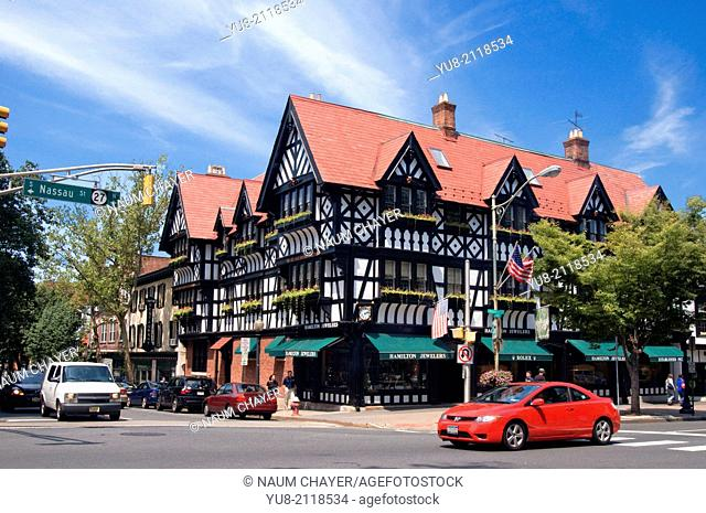 Pyne Building, Nassau Street, Princeton, Across the Street from Campus famous Princeton University, New Jersey, USA