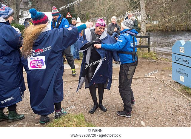BBC presenter Alex Jones is spotted filming in Inverness for sports relief. Featuring: Amal Where: Inverness, United Kingdom When: 11 Mar 2018 Credit: WENN