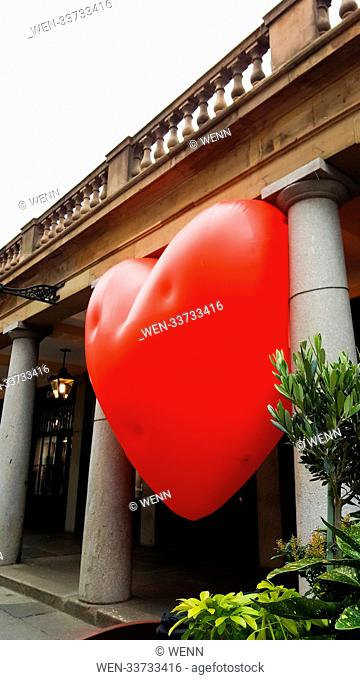 A Giant Inflatable Heart Balloon In Covent Garden As Part Of Love Letter To London