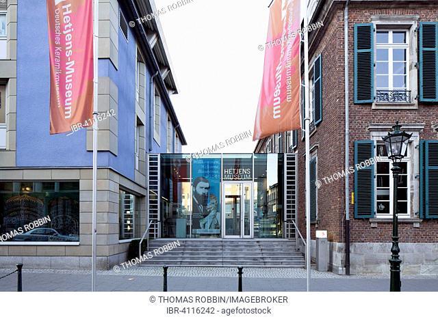 Hetjens Museum, former Palais Nesselrode with extension, Carlstadt, Düsseldorf, Rhineland, North Rhine-Westphalia, Germany