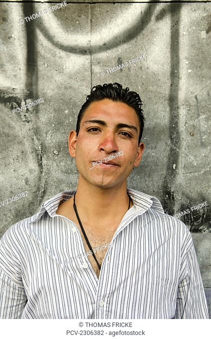Mexico, Portrait Of Young Adult Man; Aguascalientes
