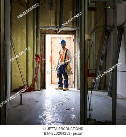 African American worker on site