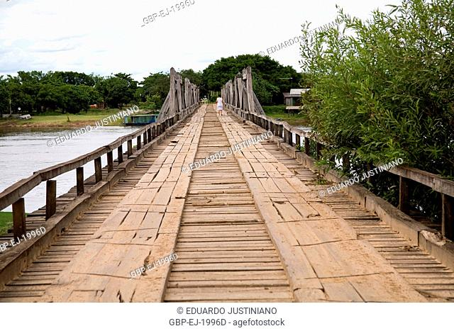 Ponte on Miranda River in the Passo do Lontra, Corumbá, Mato Grosso do Sul, Brazil