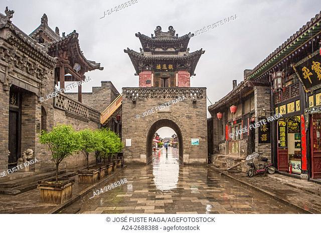 China, Shanxi Province, Pingyao City (W. H. ),, Yamen Street,Gate near the ancient Governor Bldg