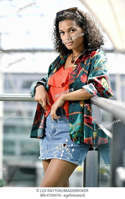 Young Woman, Fashion, Photoshoot, Munich, Upper Bavaria, Bavaria, Germany