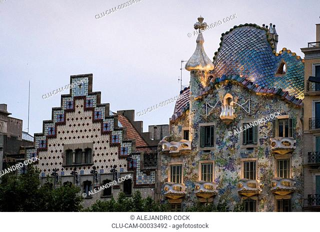 Batllo House, Barcelona, Catalonia, Spain, Europe