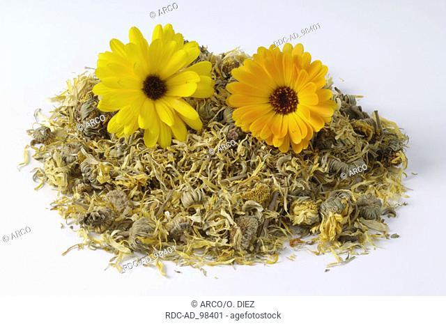 Dried Garden Marigold Calendula officinalis