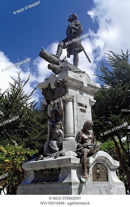 Statue of Ferdinand Magellan, Punta Arenas, Chile, South America