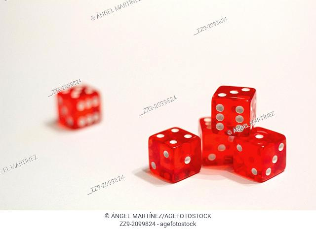 Five red dice poker