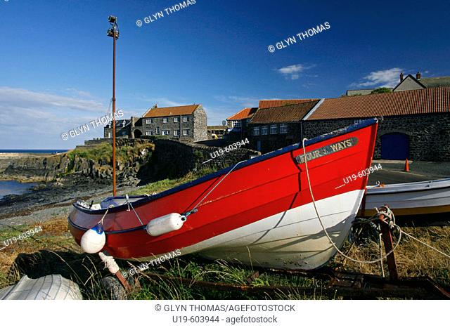 Craster harbour, Northumberland, England, UK
