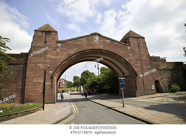 newgate section of chester city walls newgate was built in 1938 cheshire england uk