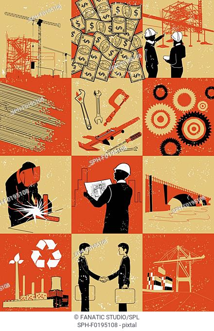 Illustration of construction