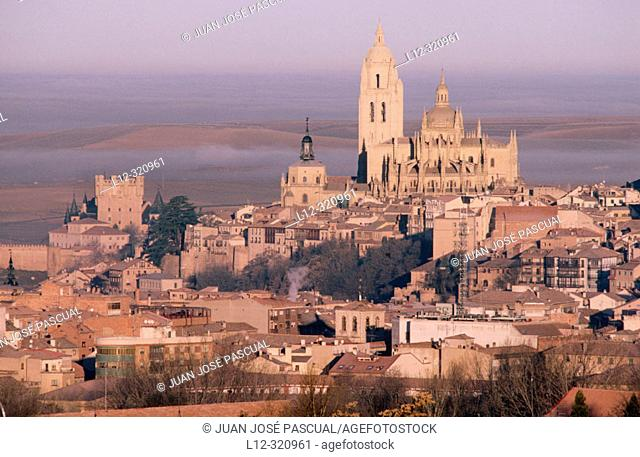 Overview of Segovia. Spain
