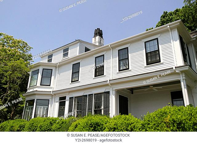 Side view of a home in Vineyard Haven, Martha's Vineyard, Massachusetts, United States, North America. Editorial use only