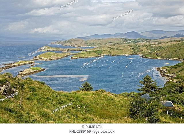 Clouds over hills, Beara Peninsula, Cork County, Munster, Ireland