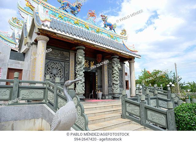 Temple in a park of Thanon Fa Ngoum, Vientiane, Laos