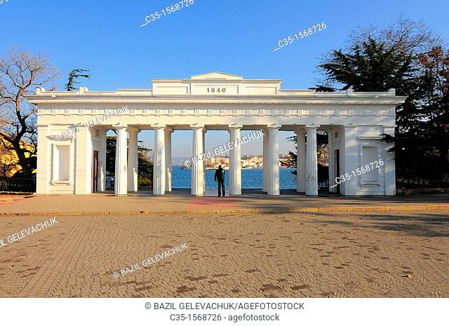 A count pier is major central part of Sevastopol, adopted in honour a commander the black Sea fleet in 1786—1790 of count M  I  Voynovicha