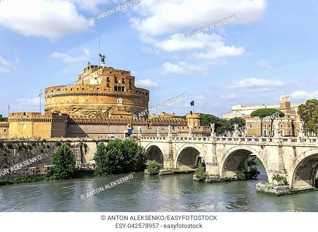Castel Sant'Angelo and Ponte Sant'Angelo, Rome, Italy