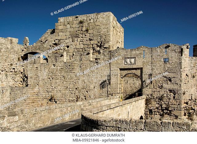Rhodes, city wall with bastion
