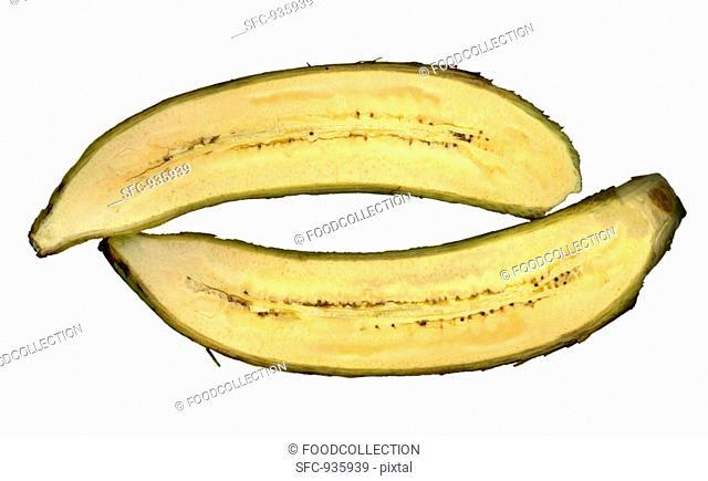 Halved plantain
