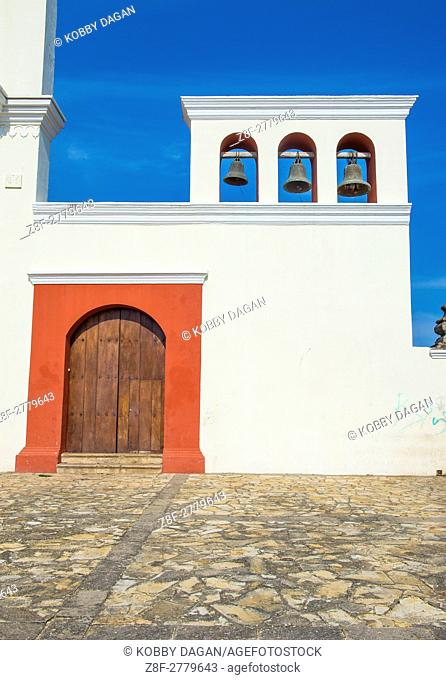 GRANADA , NICARAGUA - MARCH 20 : The San Francisco church in Granada Nicaragua on March 20 2016. The facade of the building is neoclassical and the interior is...