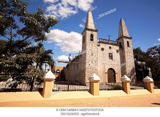 San Juan de Dios church in the town center, Valladolid, Yucatan Province, Mexico, Central America
