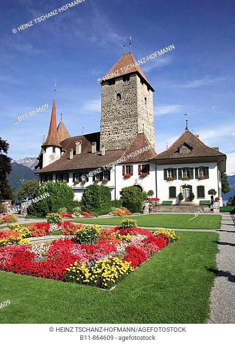 palais Spiez at Lake Thun, Niedersimmental, canton Bern, Switzerland