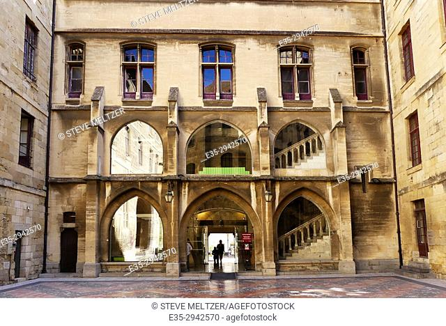 The interior courtyard of the Palace of the Archbishops, Narbonne, France